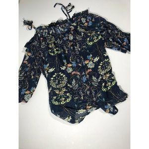 Jeans by Buffalo Women's Top Floral XL
